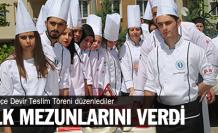 Üniversiteli aşçılar mezun oldu!
