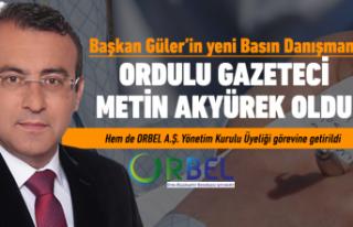 Metin Akyürek, Başkan Güler'in Basın Danışmanı...