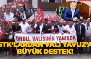 STK'lardan Vali Yavuz'a destek yağıyor