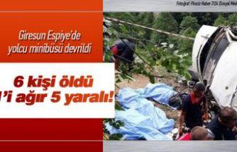 Minibüs devrildi 6 kişi öldü!
