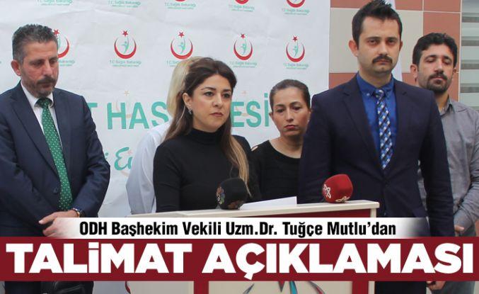 Devlet Hastanesi'nden 'talimat' açıklaması!